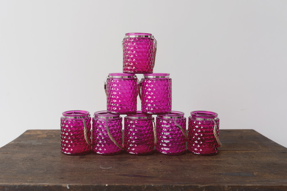 Pink Glass Lanterns