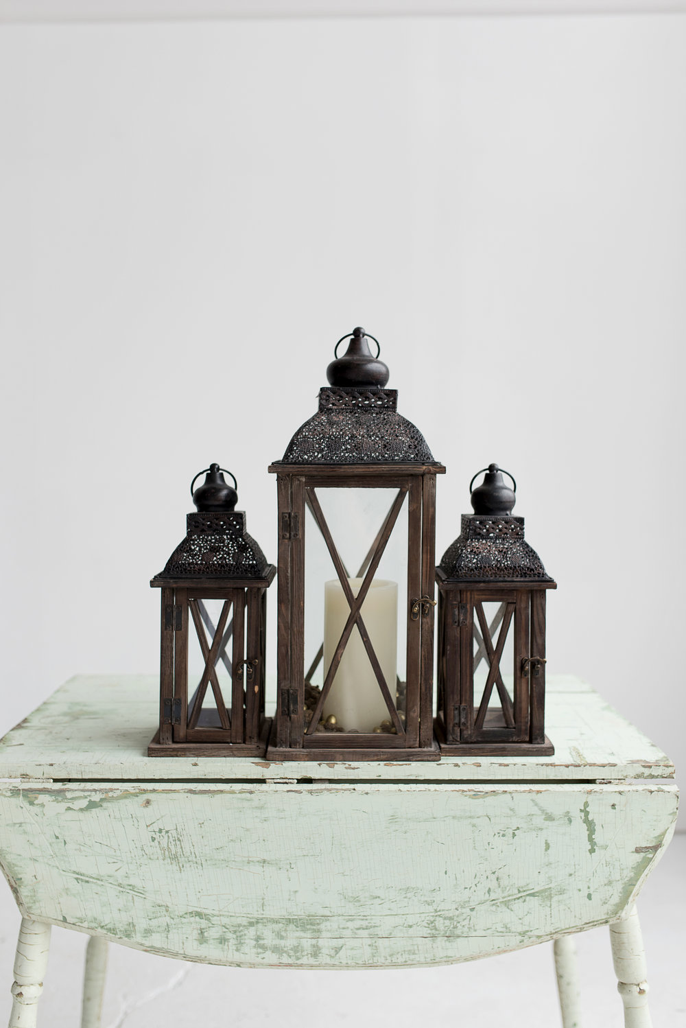 Brown Wooden Lanterns