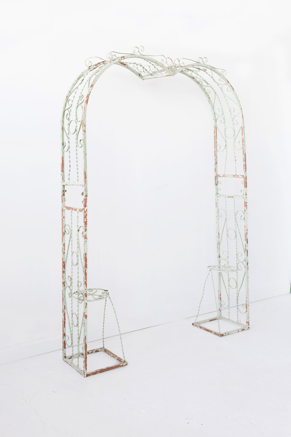 New Inventory - green metal arch