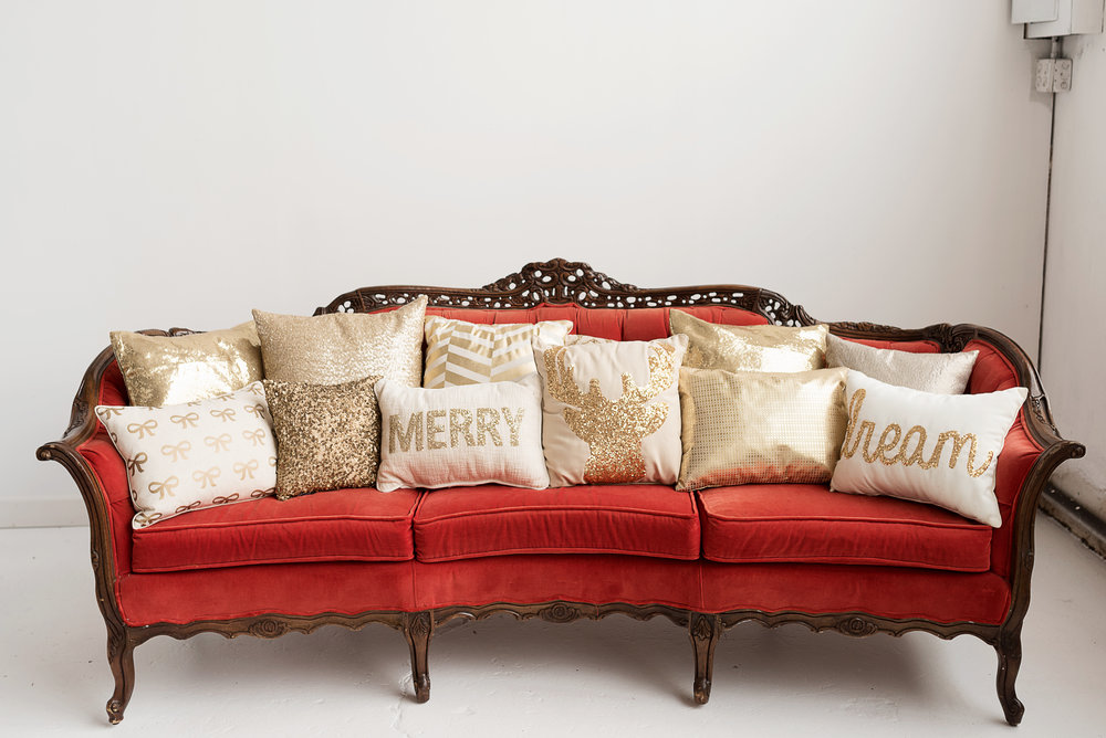 Gold Holiday Pillow Collection
