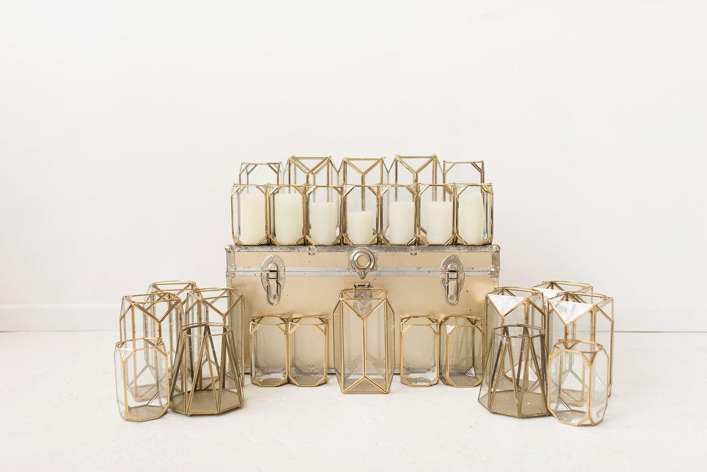Gold Geometric Lantern Collection