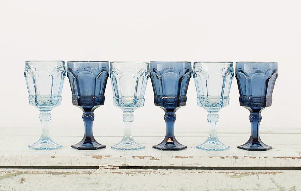 Blue Goblets (6)