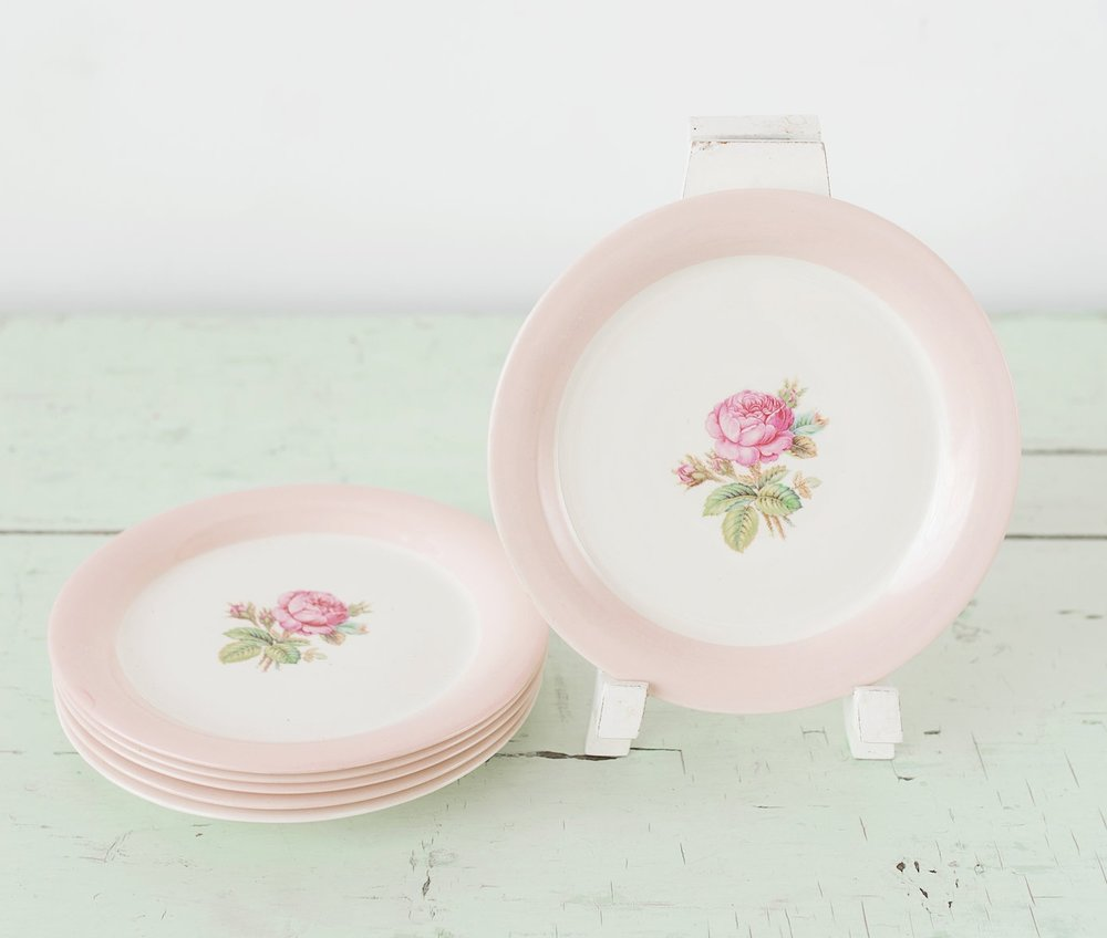 Floral Desert Plates (6)