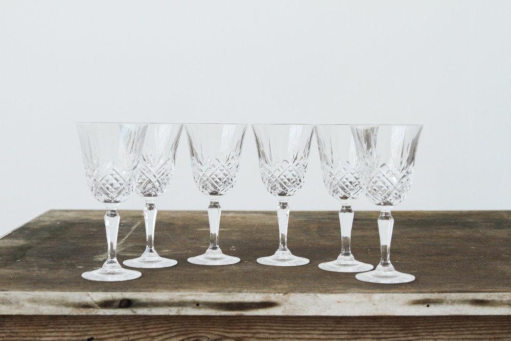 Crystal Goblets (6)
