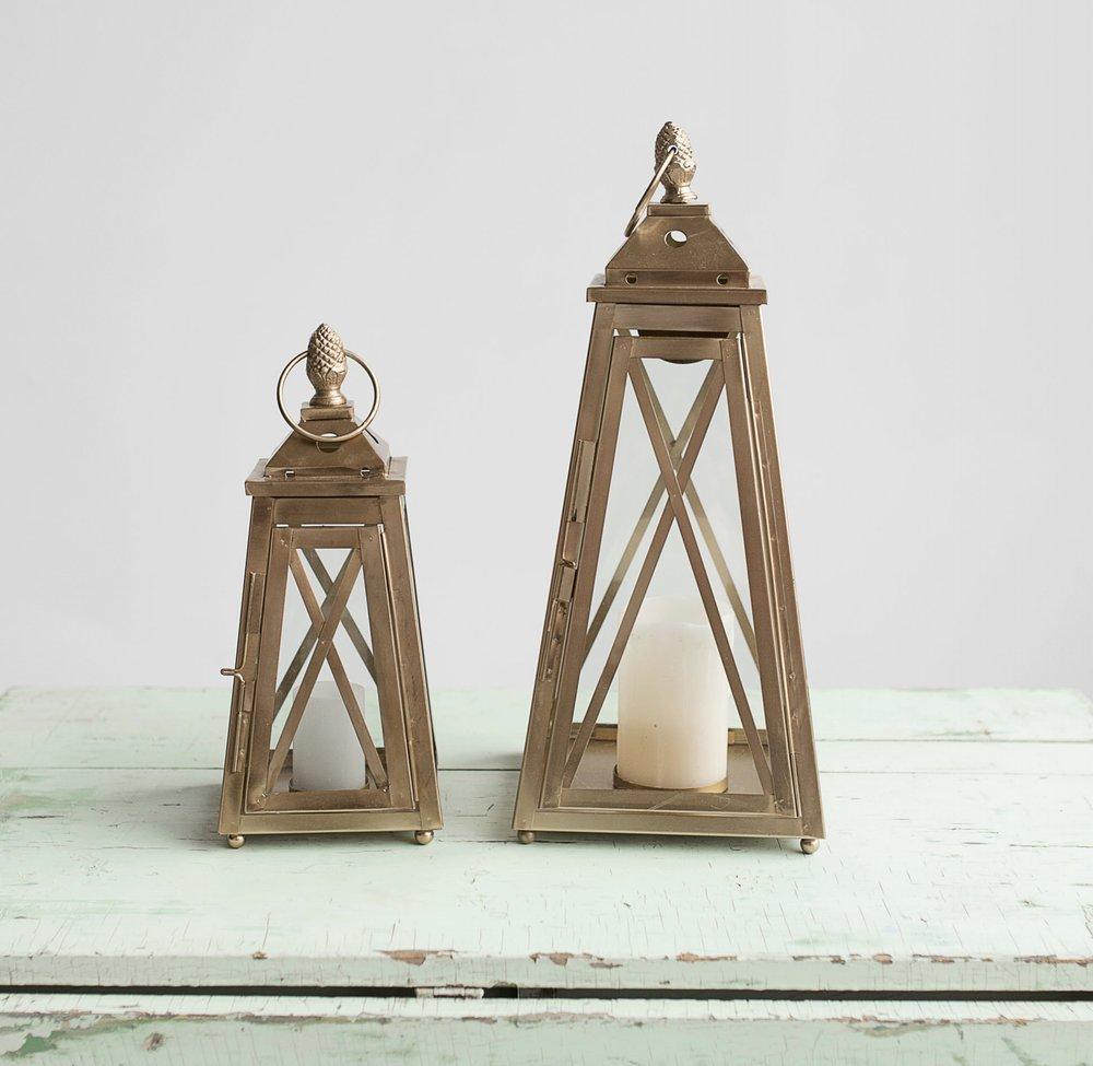 Gold Criss Cross Lanterns