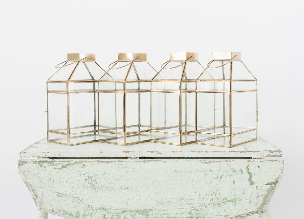 Glass and Brass Lanterns