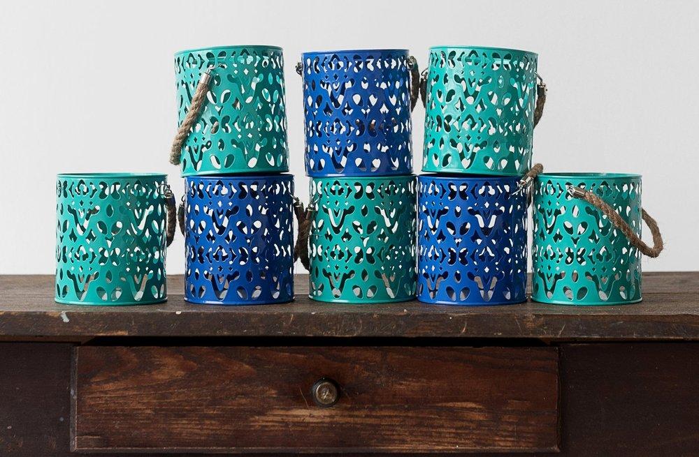 Colorful Metal Lantern Collection (8)