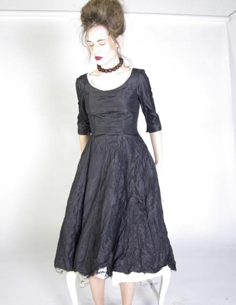 blanc blog paint it black hb taffeta party dress.jpg