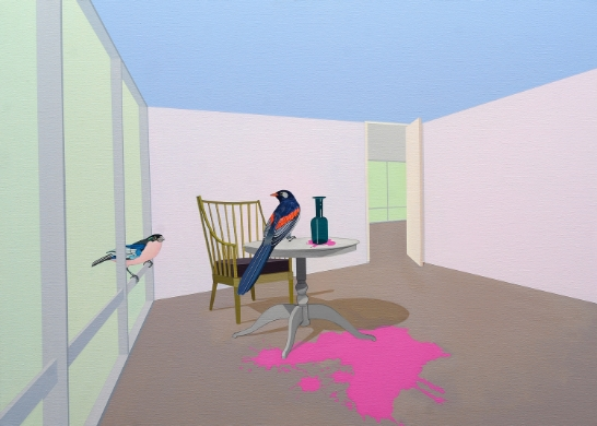 Spill   (2009) Acrylic on canvas 66 x 92 cm