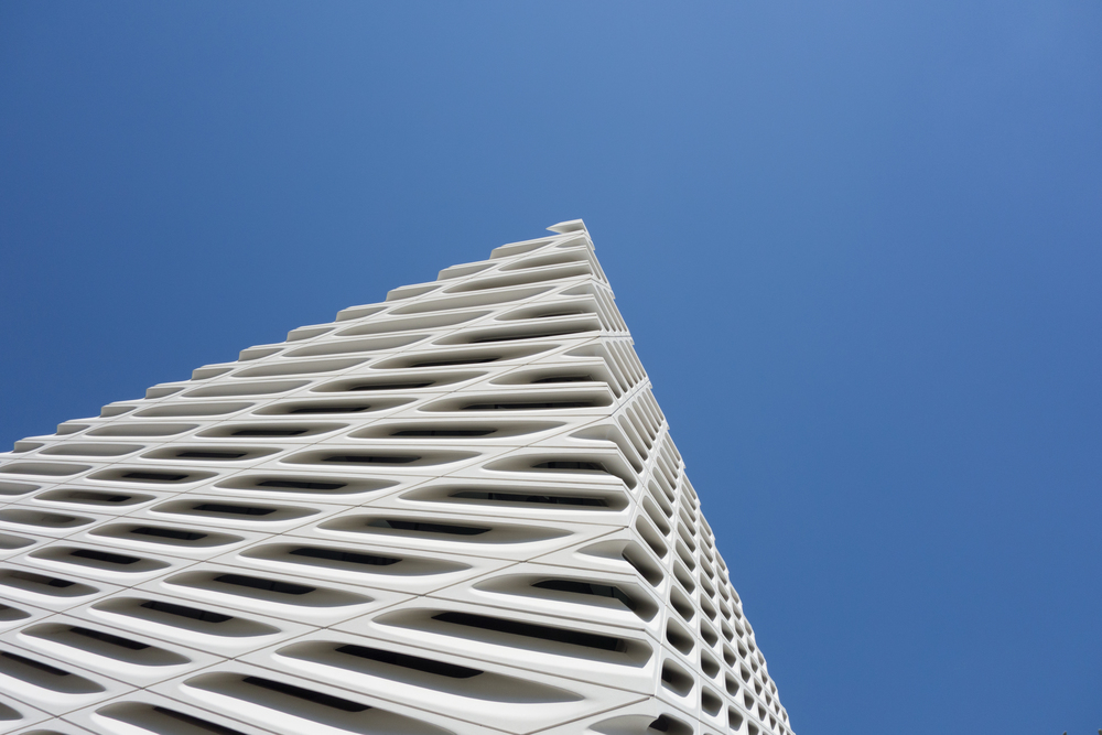 Detail of the honeycomb lattice exterior.