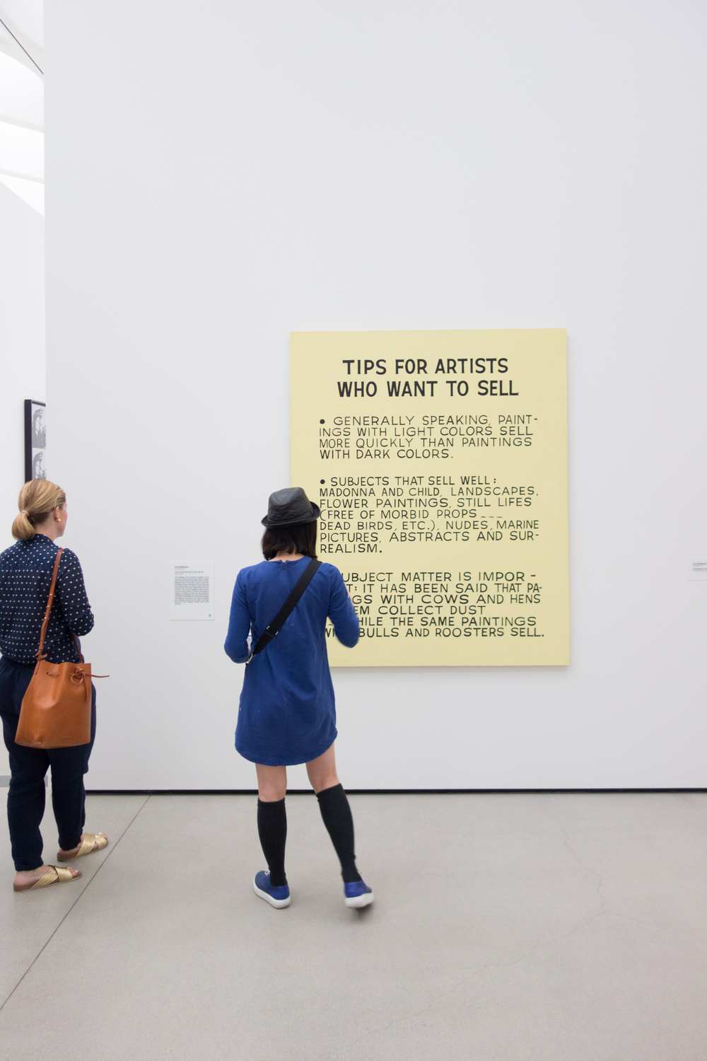 John Baldessari -  Tips for Artists Who Want To Sell, 1966-68  Getting tips to make some money!