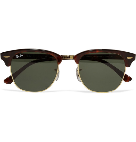 cddcad5577 Ray-Ban Clubmaster Acetate and Metal Sunglasses
