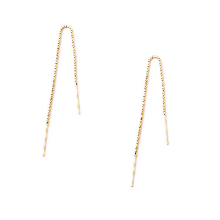 Farih Vermeil Threader Earrings