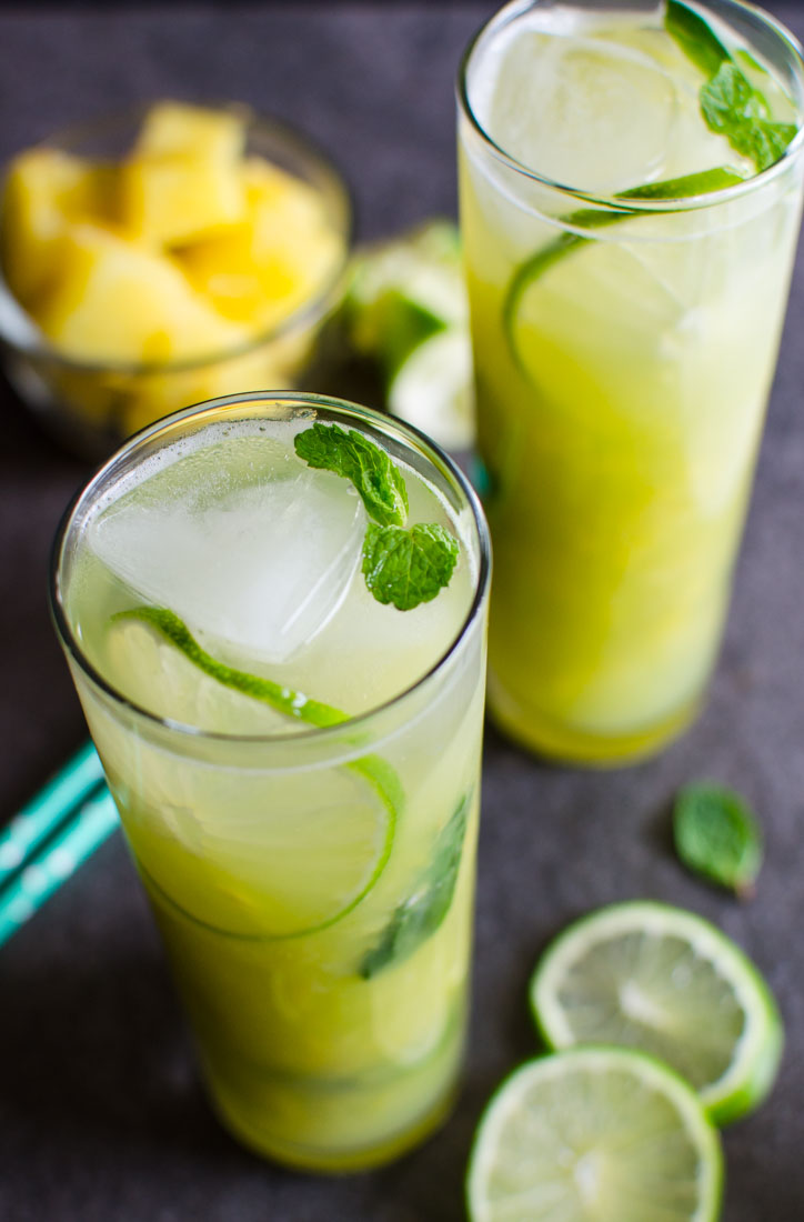 Non-Alcoholic Pineapple Mojito by Watch What U Eat