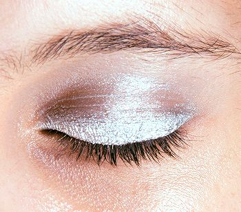 Shimmery opalescent eyeshadow stick