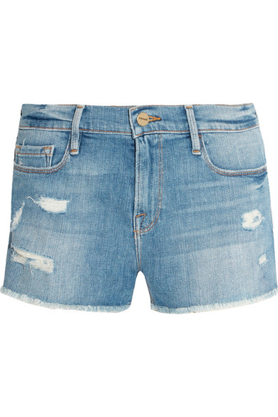 Frame Le Cutoff Distressed Jean Shorts