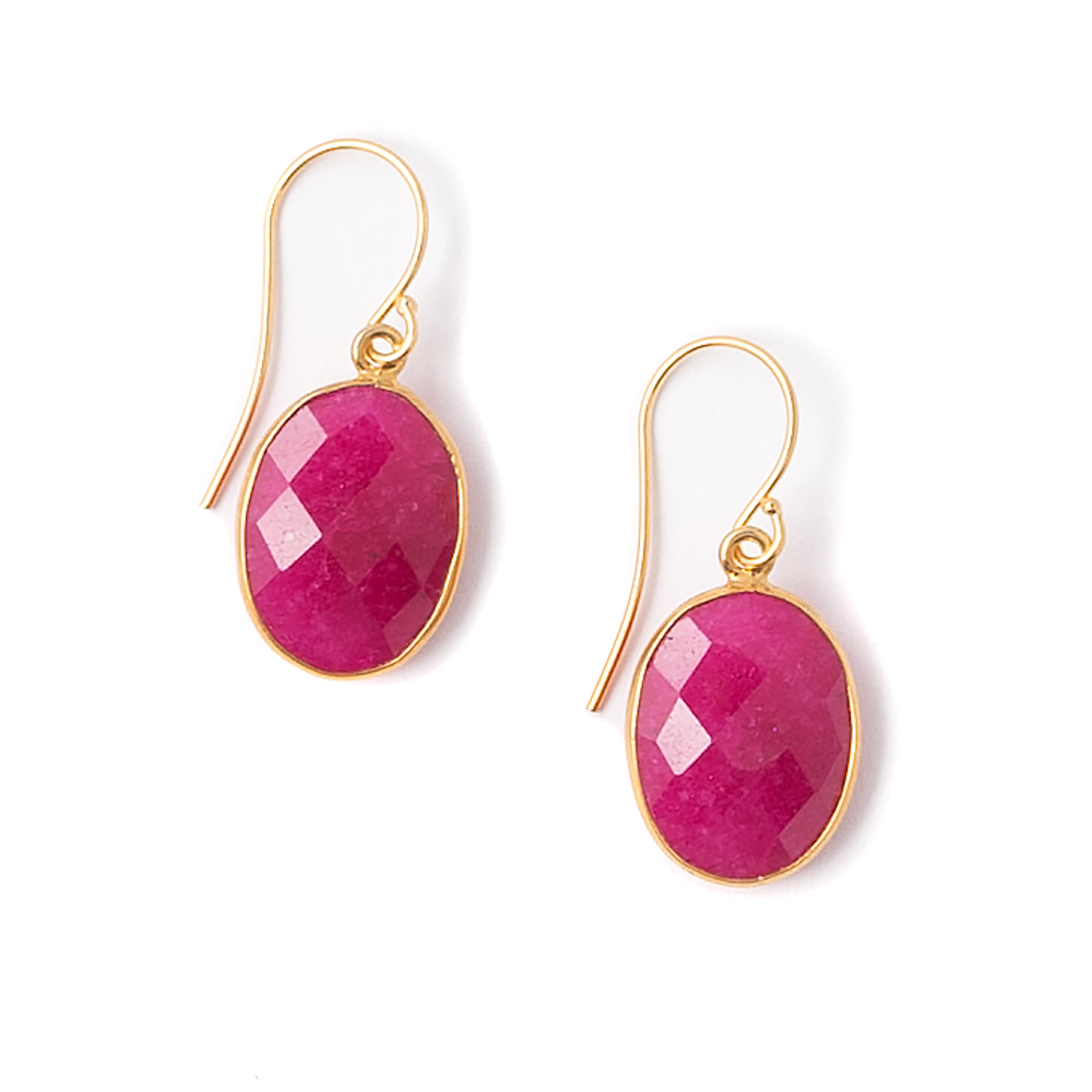 Anala Ruby Quartz Earrings by Janna Conner