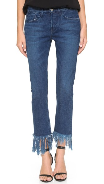 3x1 Crop Fringe Jeans  from  Shopbop
