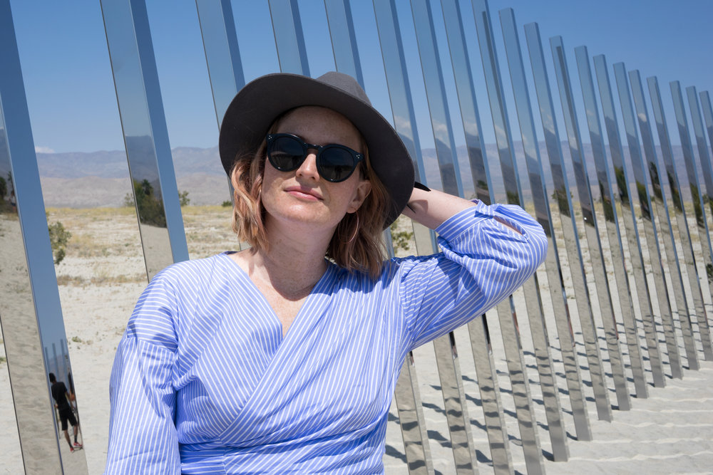 Phillip K Smith III - The Circle of Land and Sky. Zara Top, Illesteva Leonard sunnies