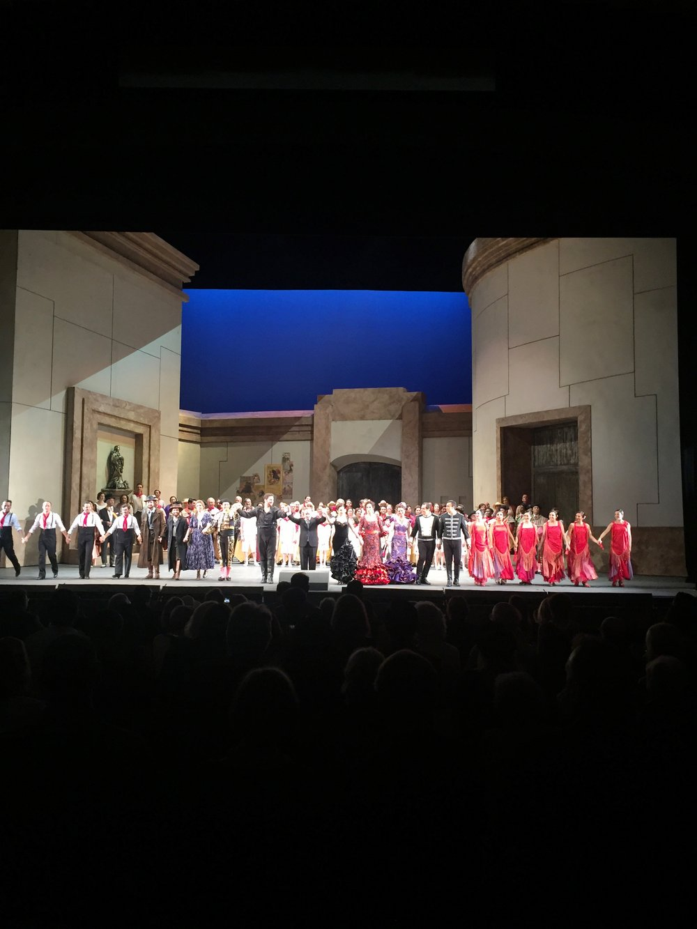 Taking a bow at the end of Carmen