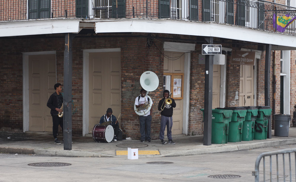 There were people playing instruments at nearly every block