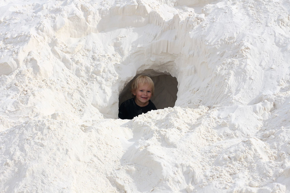 asher LOVED the sand caves