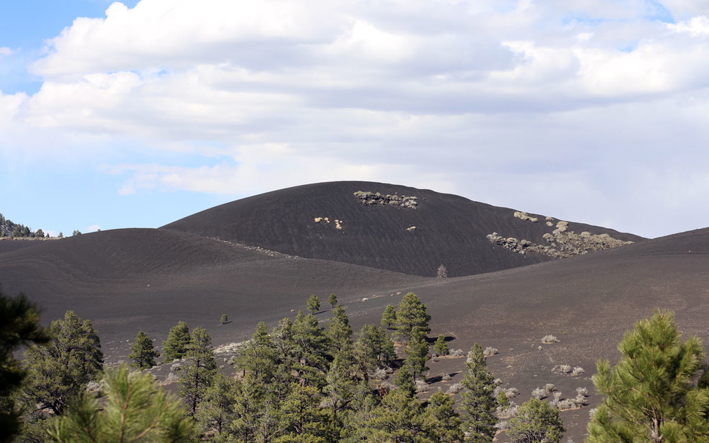 Even after all these years, the soil doesn't contain enough nutrients for plant growth, leaving the cinder cones much as they were hundreds of years ago.