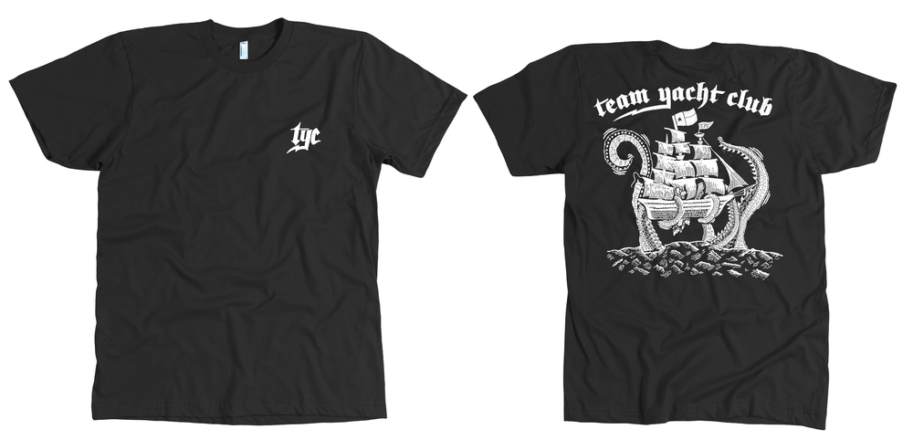 "Team Yacht Club ""Kraken"" T-shirt by Matt Thompson of Sturdy MFG"