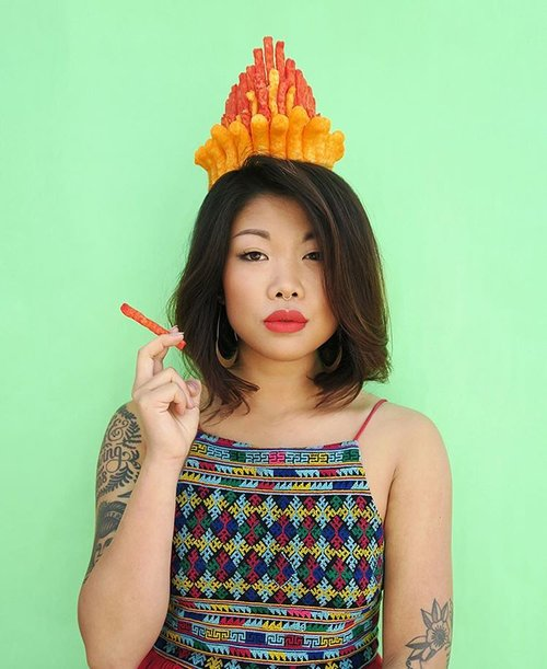 No. 6 from Lauren's #flourcrown series featuring her favorite snack, Cheetos!