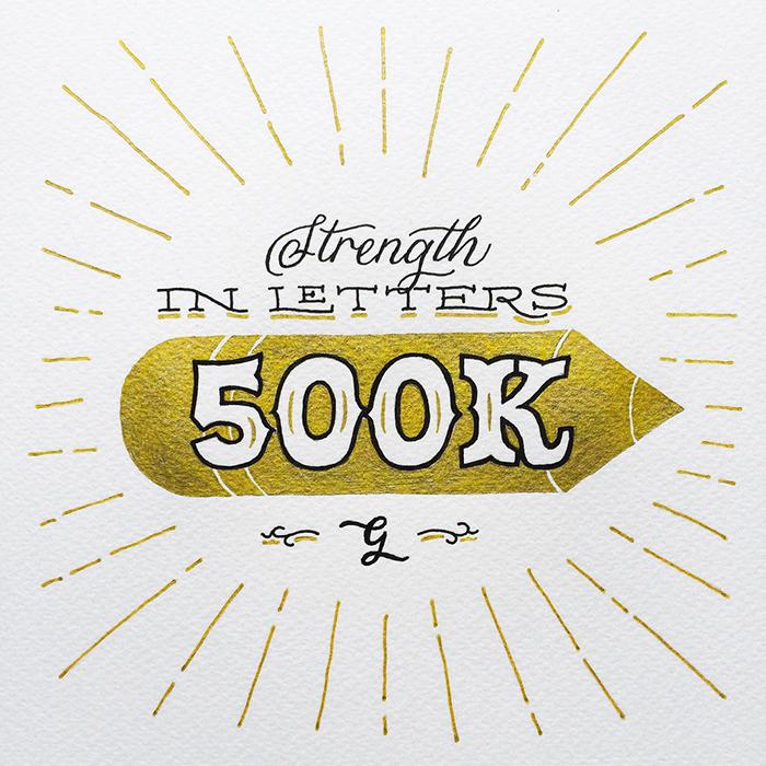 500k Followers Design by Chandan Mahimkar