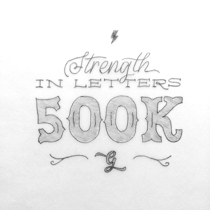 "Initial ""500k"" sketch by Chandan"