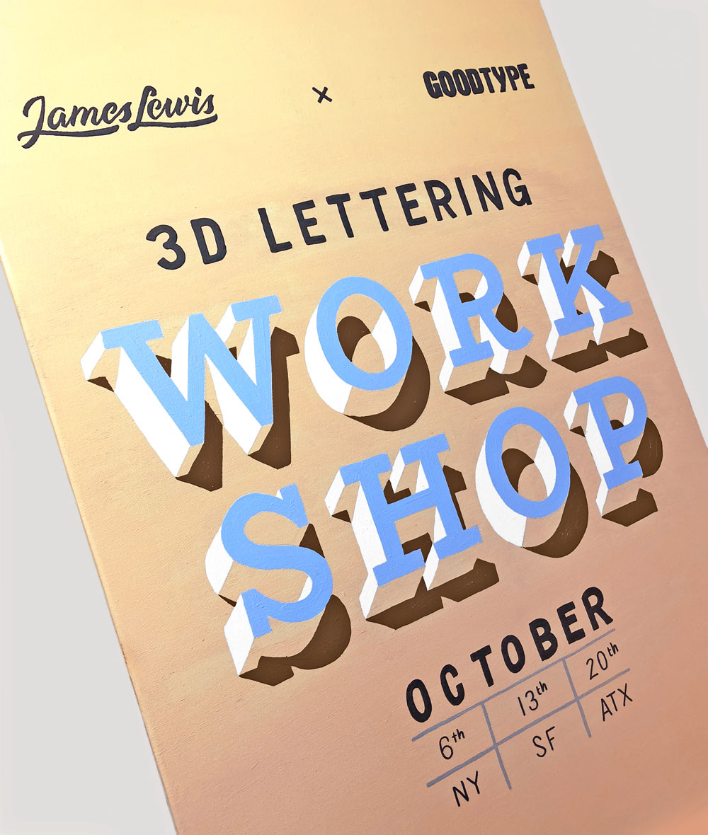 NY - 3D Lettering Workshop with James Lewis