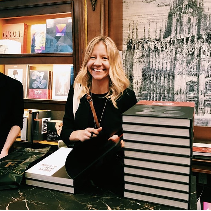 Founder/Author Brooke Robinson signing copies at Rizzoli Bookstore in NYC