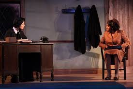 """..""""the talented Brenda Crawley is excellent as the mother of the boy who may have been molested. This is the sharply written role that earned Adriane Lenox a Tony Award and Viola Davis an Oscar nomination, and Crawley makes it fully her own."""" Backstage"""
