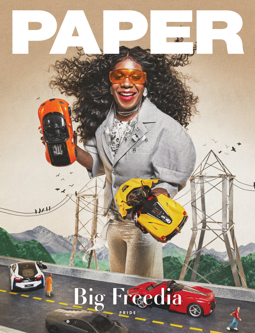 """PAPER MAGAZINE June online cover  Glasses + Necklace from """"Looplicated"""" collection wearing by Big Freedia. Jun 2018   http://www.papermag.com/big-freedia-pride-2580098422.html?rebelltitem=28#rebelltitem28"""