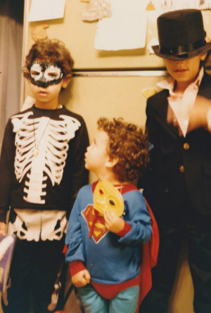 My brothers and I last Halloween. (I'm in the middle.)