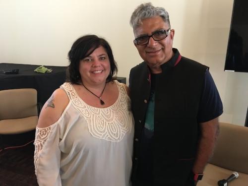 Look! It's me &Deepak Chopra!