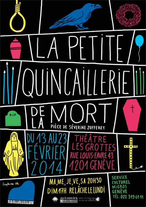 Theater poster for La Cie Arquidam, December 2013