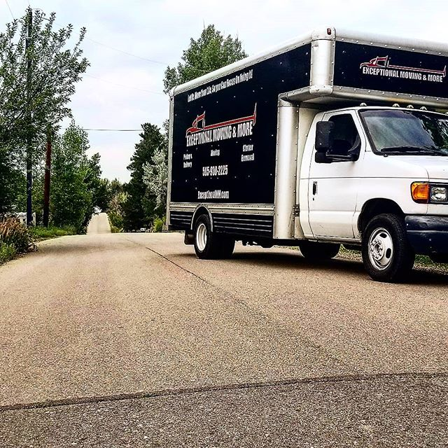 Keep Moving Forward. Exceptionally.  #santaFe #boulder #colorado #moving #movers #boxtruck #cloudyday #exceptional
