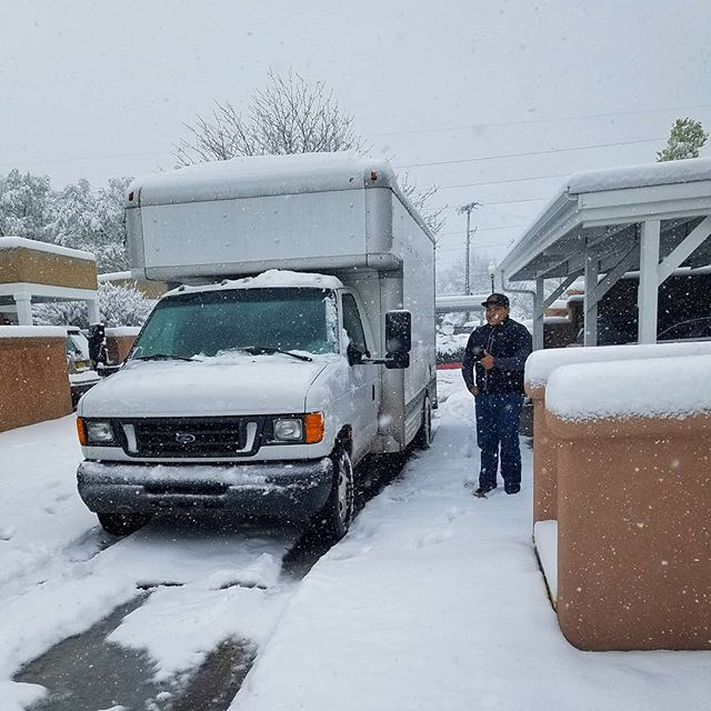 Need to move but the weather has put a hold on things? Give us a call and we'll be there regardless of the weather.  A little snow has never stopped Exceptional.  #freezingmove #santafe #exceptional #moving #matador #coldweather