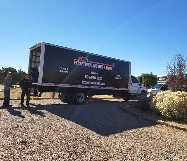 Sunny but still 27°. On a side note, did you know we also do delivery only services?  We pickup and dropoff up to 10 items without the minimum service of a move. So next time you just need 1-2 pieces delivered before Christmas, check with us first.  #santafe #lascampanas #sunnymonday