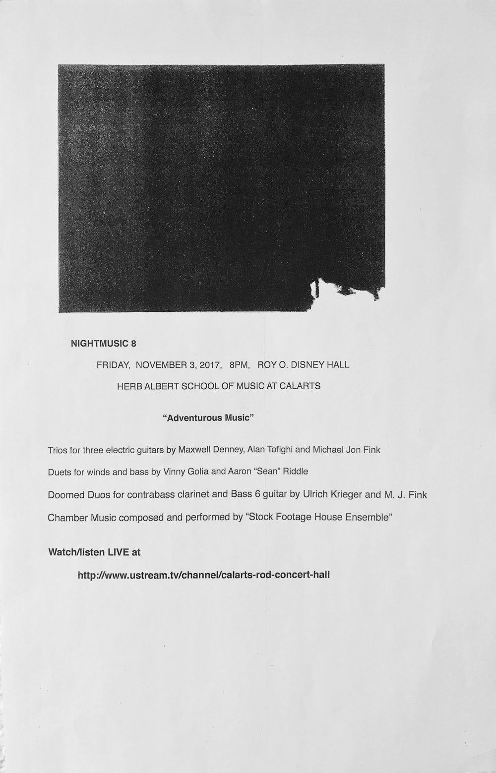 CalArts ROD, Nov 3, 2017