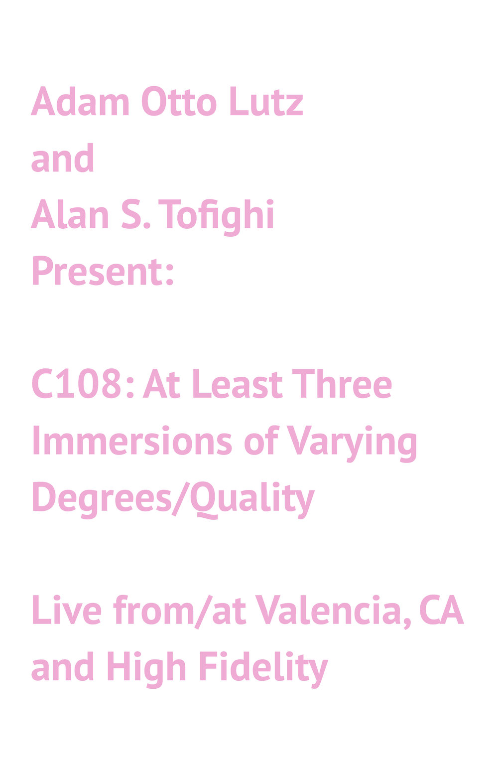 CalArts May 2-Ongoing, 2018