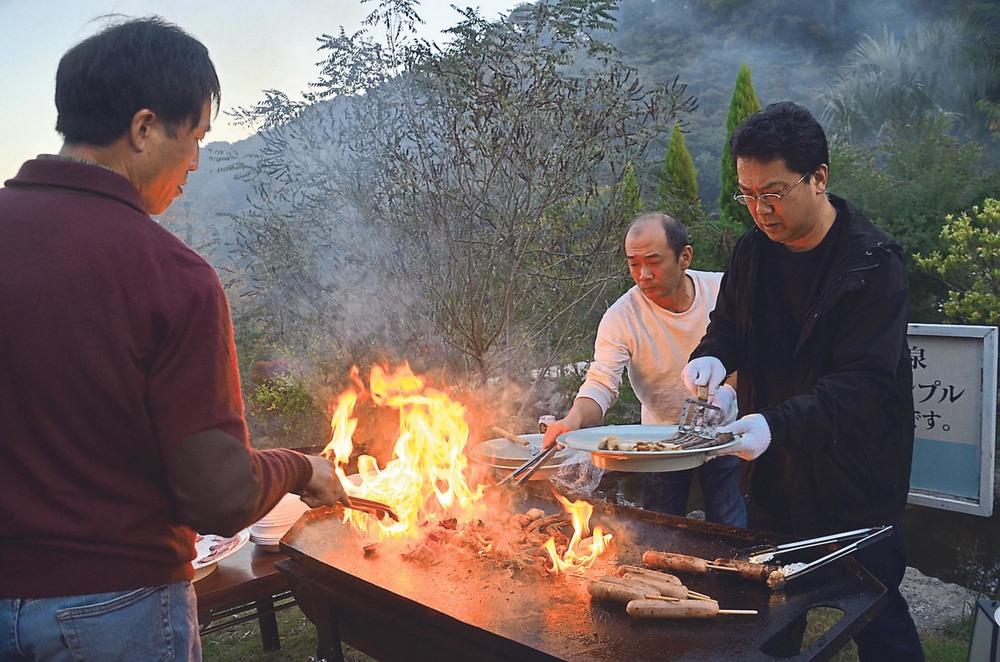Barbecue im Kannon Onsen