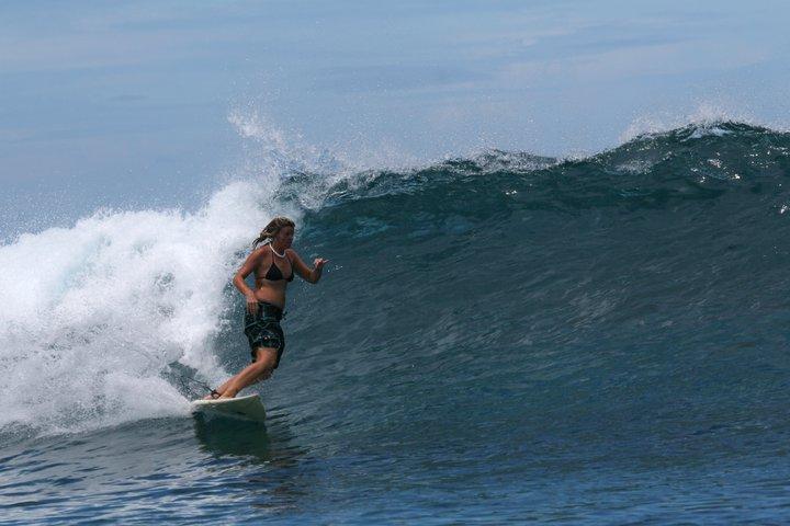 Suzarita Surfing at Namotu, Fiji. © 2007 Suzarita.