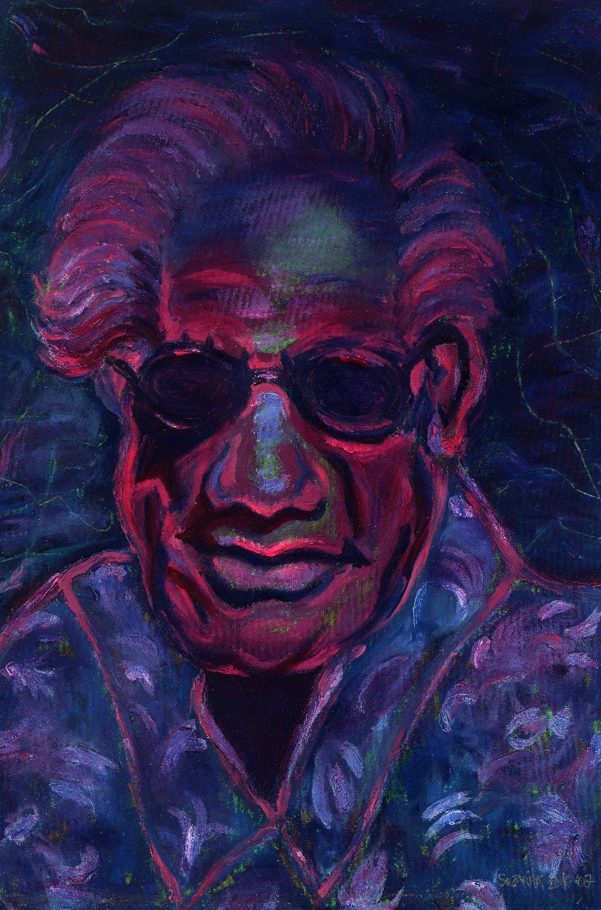 """Purple Duke"" Oil on Canvas 32x22 © 2015 Suzarita"