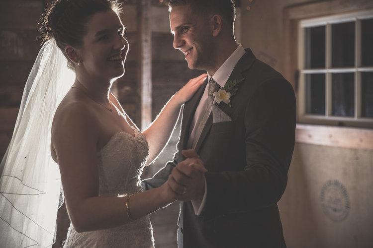 Bride and groom having their first dance.jpg