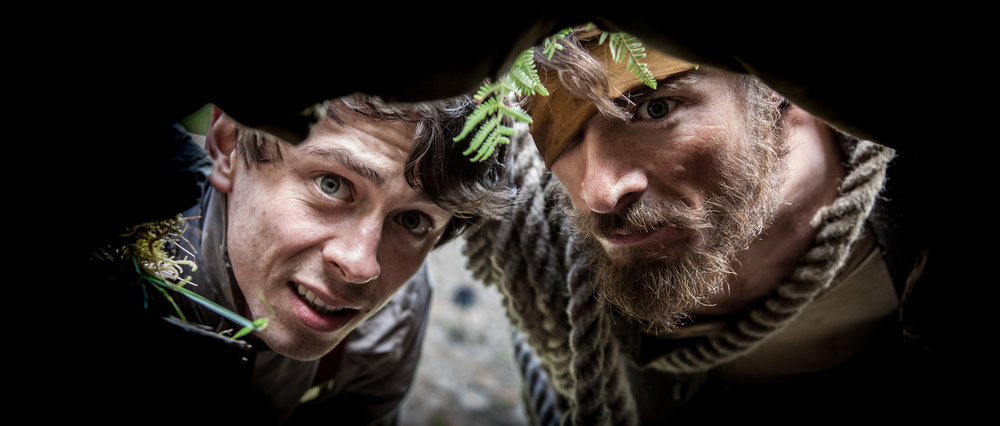 DSR - 'Nugget' (Jerome Thompson) and 'Clay' (Joe Newton) peer into a tunnel as they search for treasure-11.jpg