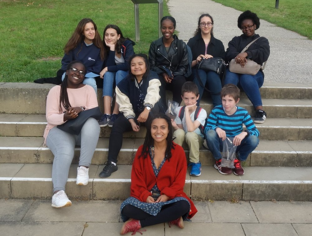 Seed Sisters and other young people at the Millennium Seed Bank in Wakehurst Gardens