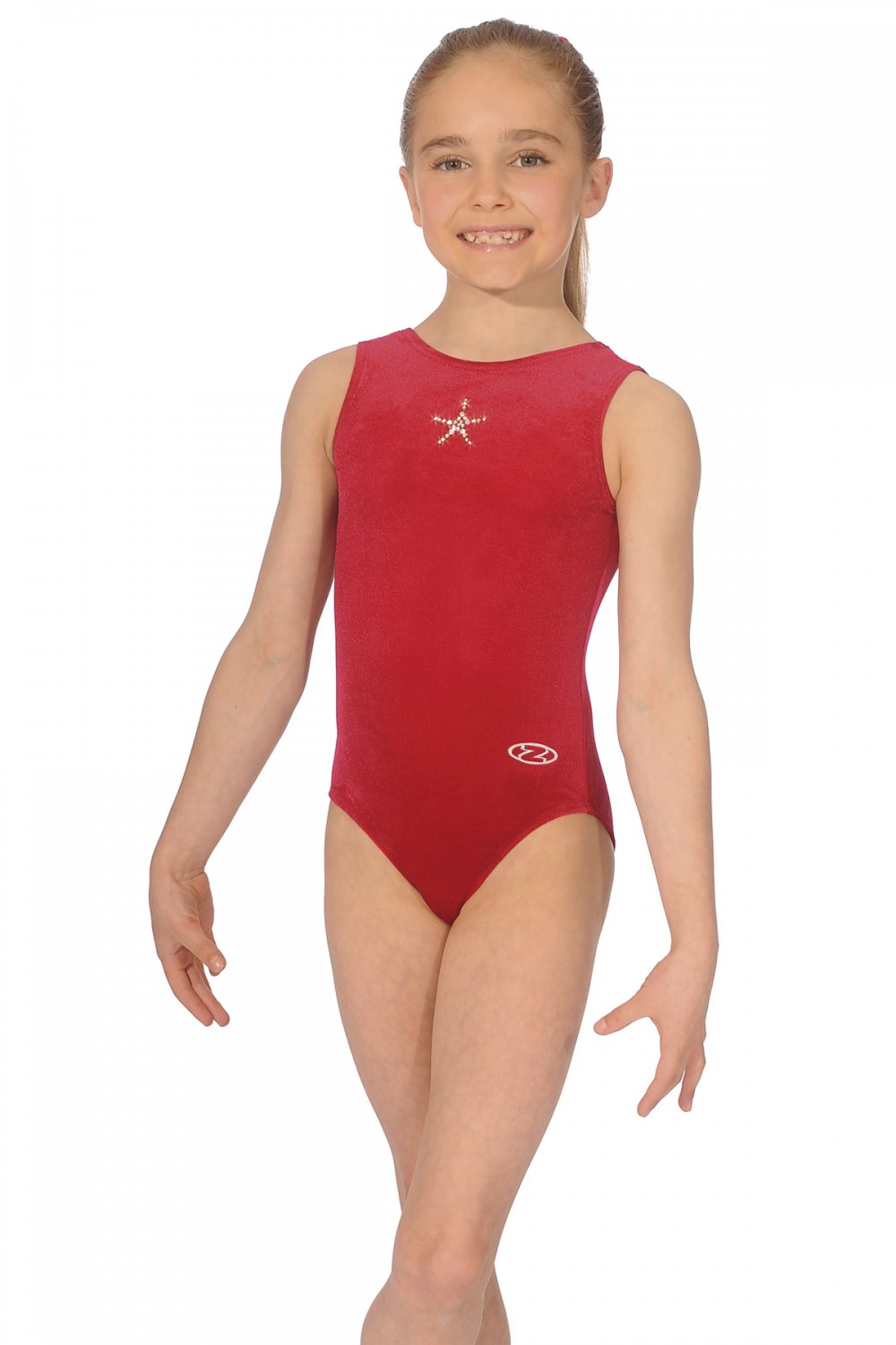 Girls Club Leotard - With its smooth velour/Lycra body and striking star jewel motif the club leotard is perfect for weekly training session and competitions.Material: Velour / LycraColour: RedSize: Available in various sizesPrice: £25 (Sizes 26-32) / £27 (Sizes 34+)